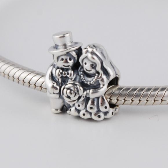 876548092 Pandora Jewelry | Mr Mrs Bride Groom Wedding Charm | Poshmark